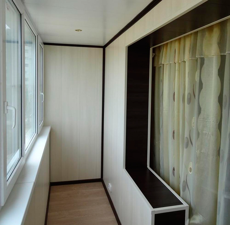 Ремонт балкона в панельном