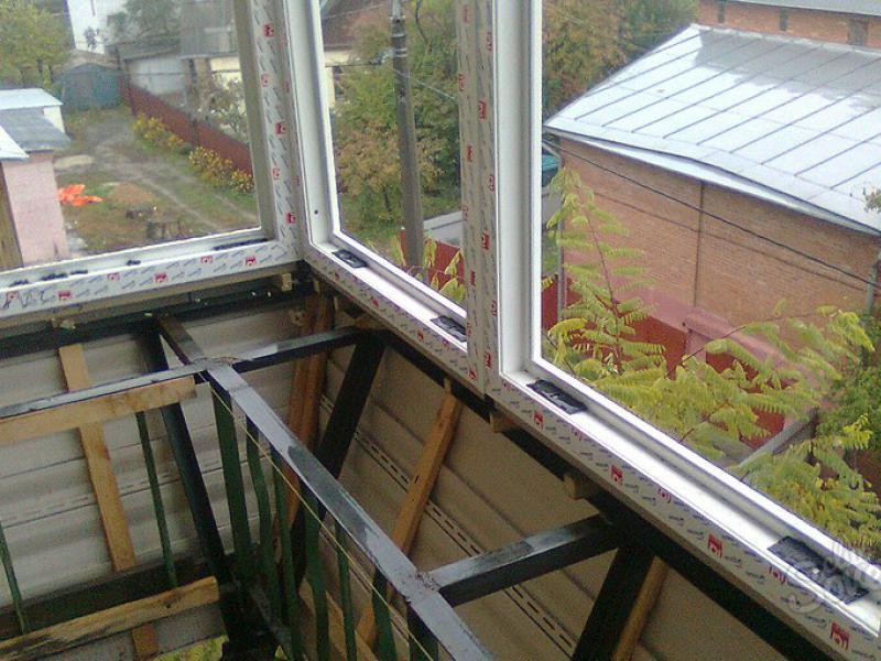 Балкон остекление своими руками фото